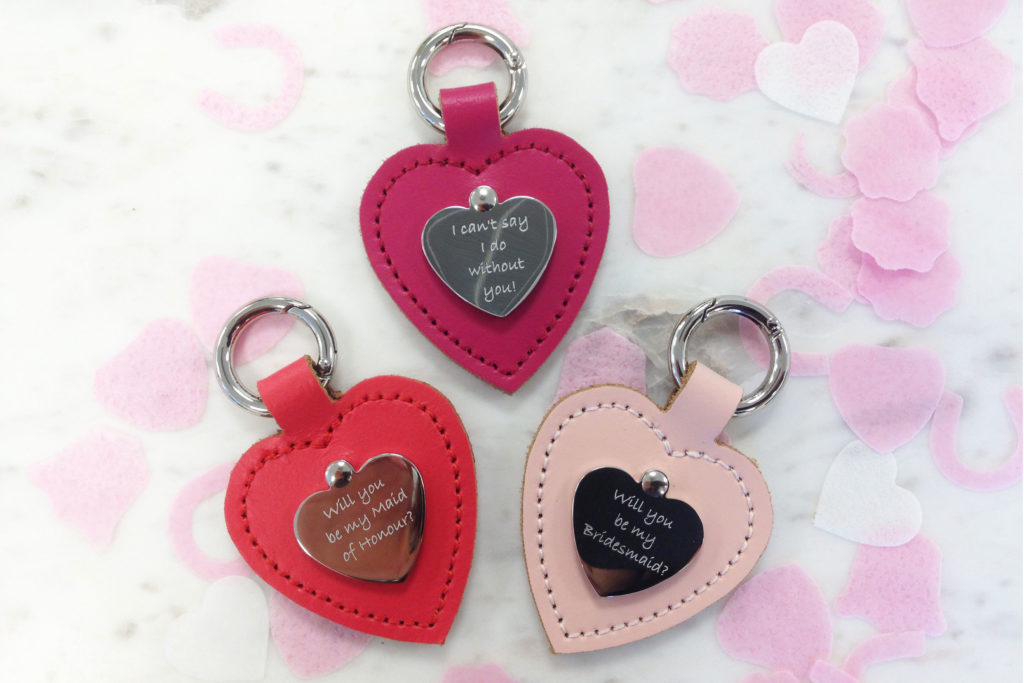 Ask that all important question with a super cute personalised bag charm!