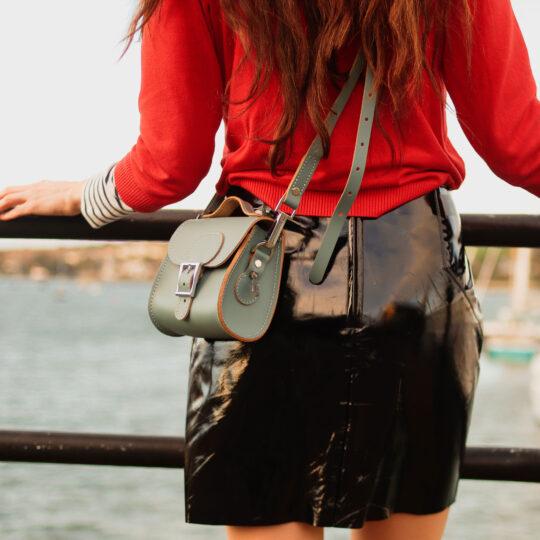 Brit-Luxe Micro Mini Cross Body Bag Stormy Sea